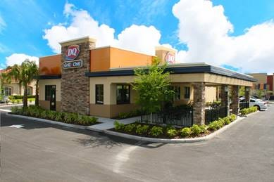 A Fowlerville couple have submitted a site plan for a 2,612-square-foot Grill and Chill Dairy Queen restaurant similar to what is pictured, on East Saginaw Highway in Grand Ledge. The full-service restaurant would serve sandwiches, salads, french fries and ice cream treats.