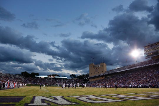 Northwestern's Ryan Field opened in 1926 and currently seats 47,130.