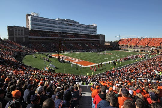Illinois' Memorial Stadium opened in 1923 and seats 69,250.