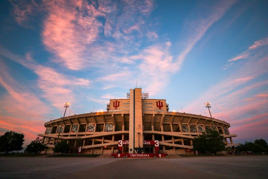 A newly renovated Memorial Stadium in Bloomington awaits football season in July 2018.