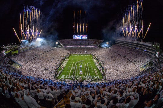 Penn State's Beaver Stadium opened in 1960 and currently seats 106,572