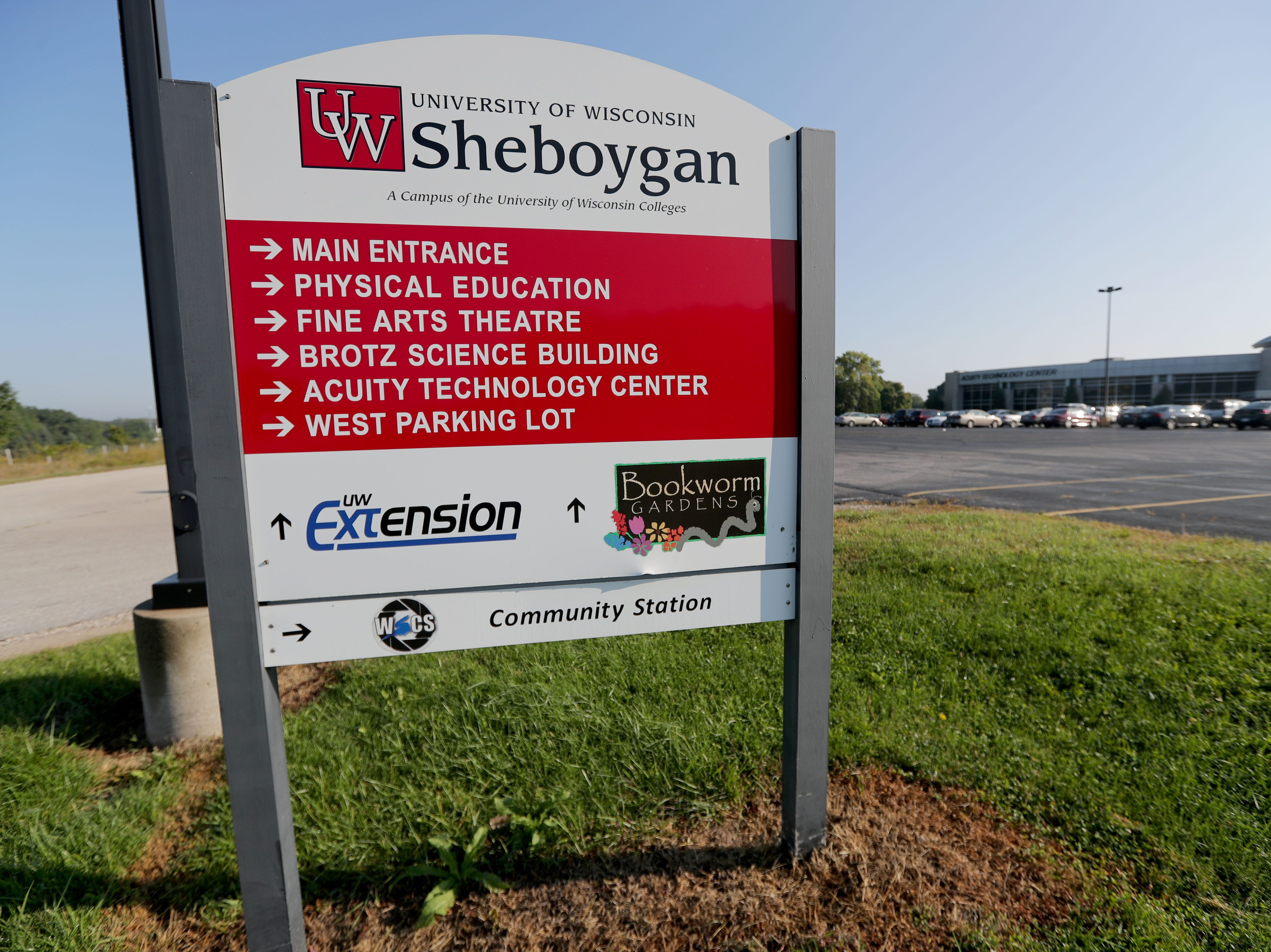 "A sign at the entrance to the University of Wisconsin Sheboygan reads ""A campus of the University of Wisconsin Colleges."" The University of Wisconsin System has merged its financially strapped two-year colleges with the state's four-year universities to create regional centers of higher education. UW-Sheboygan is now under the UW-Green Bay umbrella and has been renamed UW-Green Bay, Sheboygan Campus."