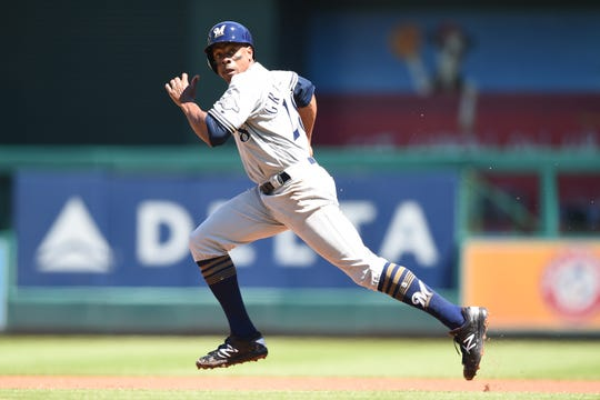 Curtis Granderson, a 15-year MLB veteran, came to the Brewers in a trade on Aug. 31.