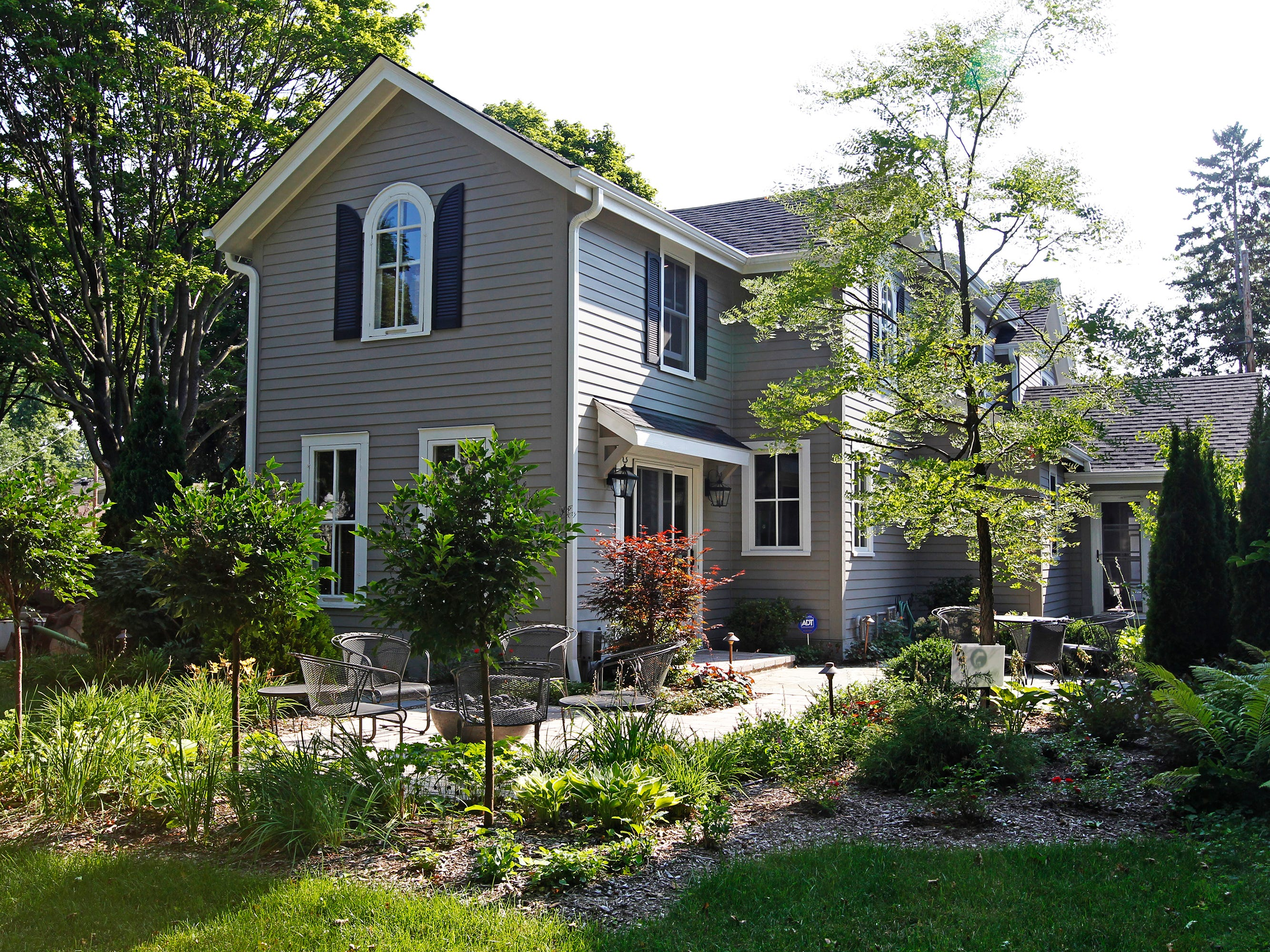 The home includes three separate garden areas, including this one.
