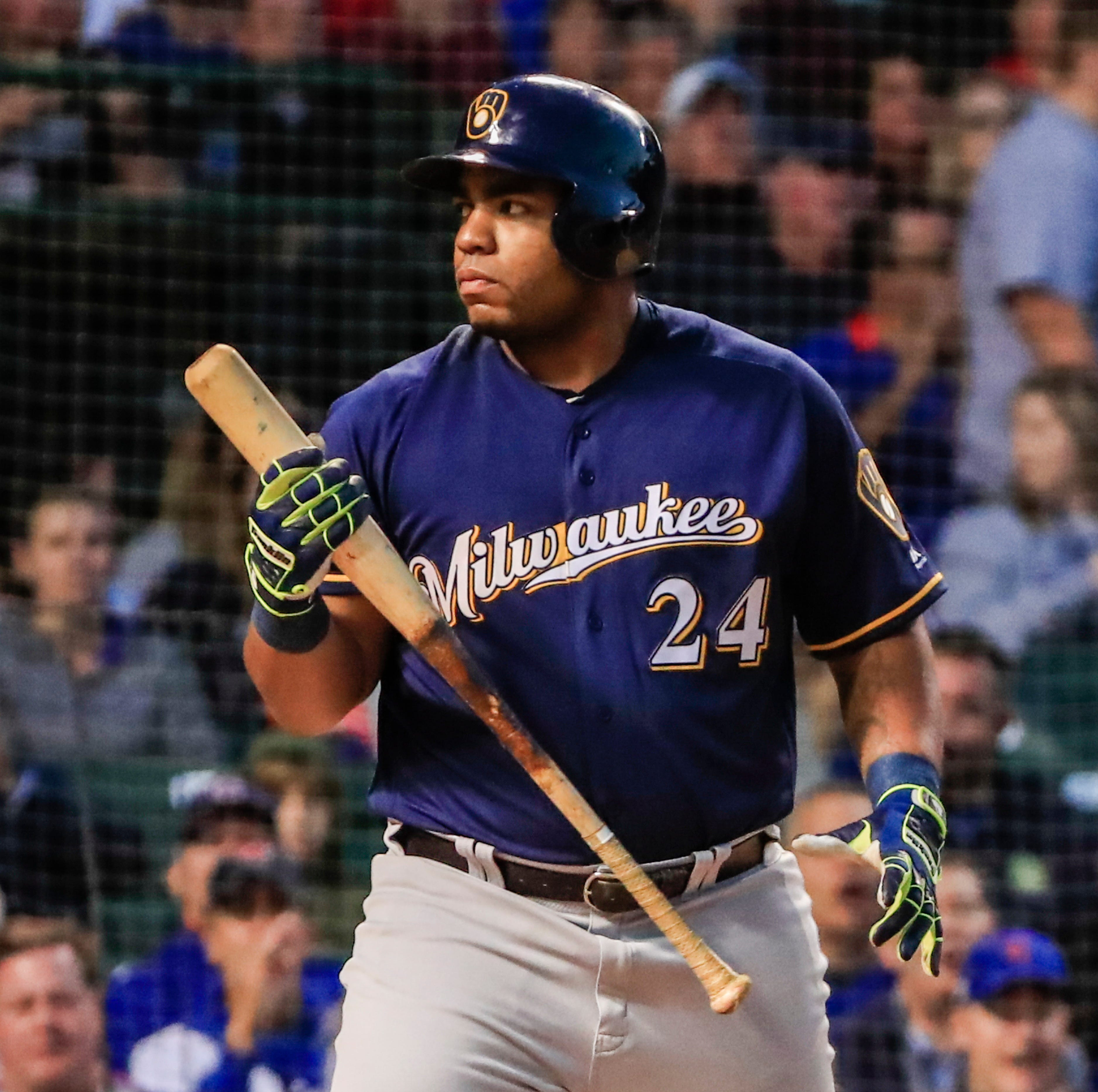 Notes: Brewers hope to serve dual purposes by sitting Jesús Aguilar, starting Eric Thames