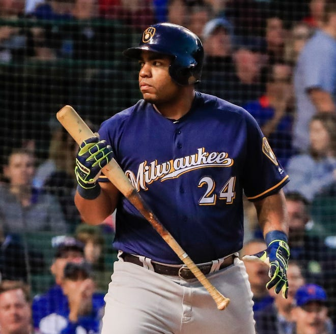 For September, Jesus Aguilar has a .229 average, no homers, four RBI and an OPS of .596.