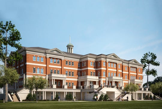 Artist rendering of the proposed Edward Via College of Osteopathic Medicine.