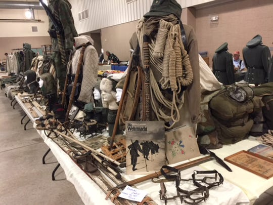 Military collectible items like these will be on display, and many available to buy or trade for, this weekend at the Heartland Militaria Show - Southern Style at the Cramton Bowl Multiplex in Montgomery. The show is open to the public Saturday and Sunday.