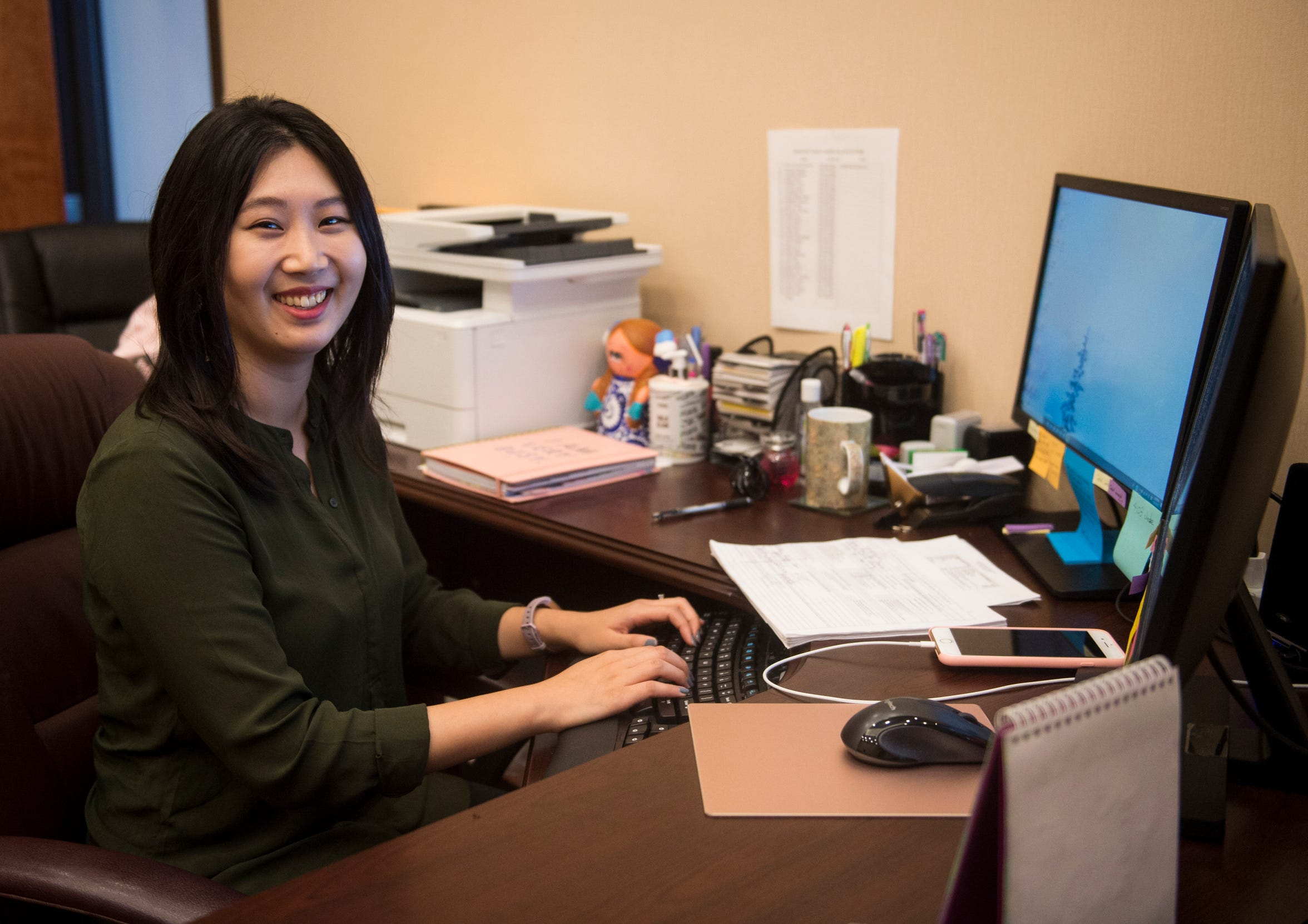 Rachel Jang in her office at Sims Investments in Montgomery, Ala., on Tuesday, Sept. 11, 2018.