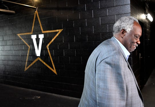 Vanderbilt athletics director David Williams leaves a press conference after confirming he will resign as athletics director and vice chancellor