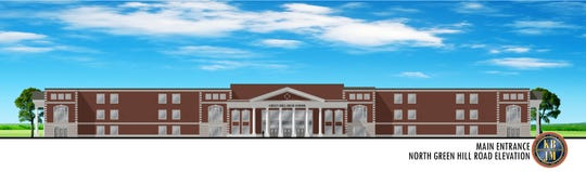 Rendering for Wilson County's future high school.
