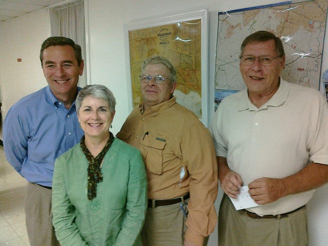From left: State Rep. Glen Casada, Triune Neighborhood Watch and Community Club President Rhonda Rose and Williamson County District 5 Commissioners Tommy Little and Lew Green attended the neighborhood group meeting.