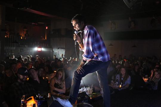 Aziz Ansari perfoms at Zanies Nashville in the dark