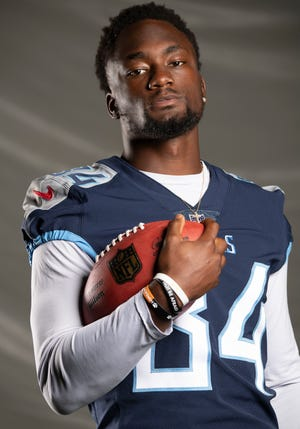 Titans wide receiver Corey Davis is entering his second year with the team.