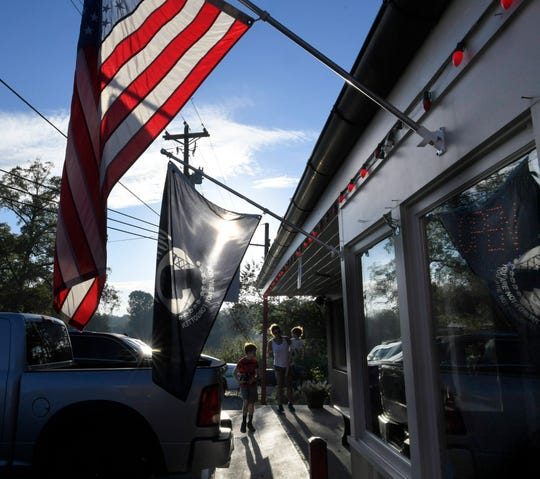 People arrive for breakfast at Country Boy Restaurant  in Leipers Fork on August 29, 2018.