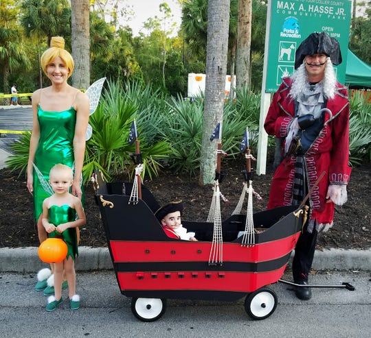 Lauren Osborne, of Naples, has made Halloween costumes for her and her family the past two years. Here's a photo of them dressed up as Peter Pan characters for Halloween in 2016.