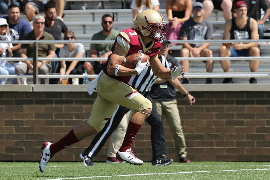 Naples High alum Michael Walker, now a senior at Boston College, led the nation in combined kickoff and punt return yardage last season.