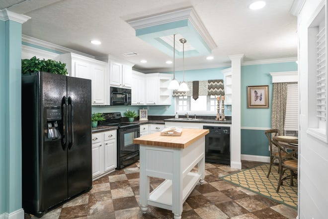 The new Pelican model by ScotBilt Homes at LeeCorp's model center in Estero.