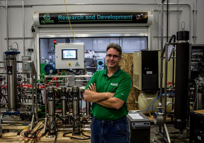 Andy Joseph, president and CEO of Apeks Supercritical, in Johnstown.