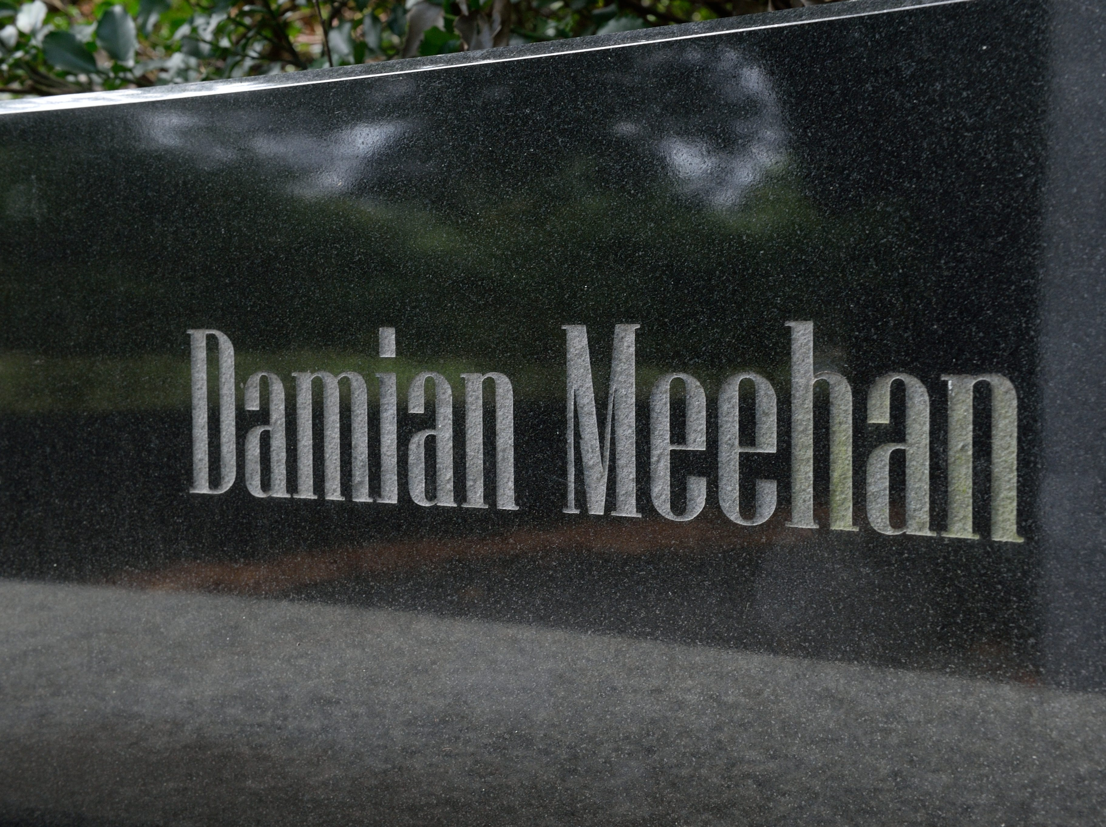 Damian Meehan of Glen Rock. Here, his name is etched at Veterans Memorial Park in Glen Rock.