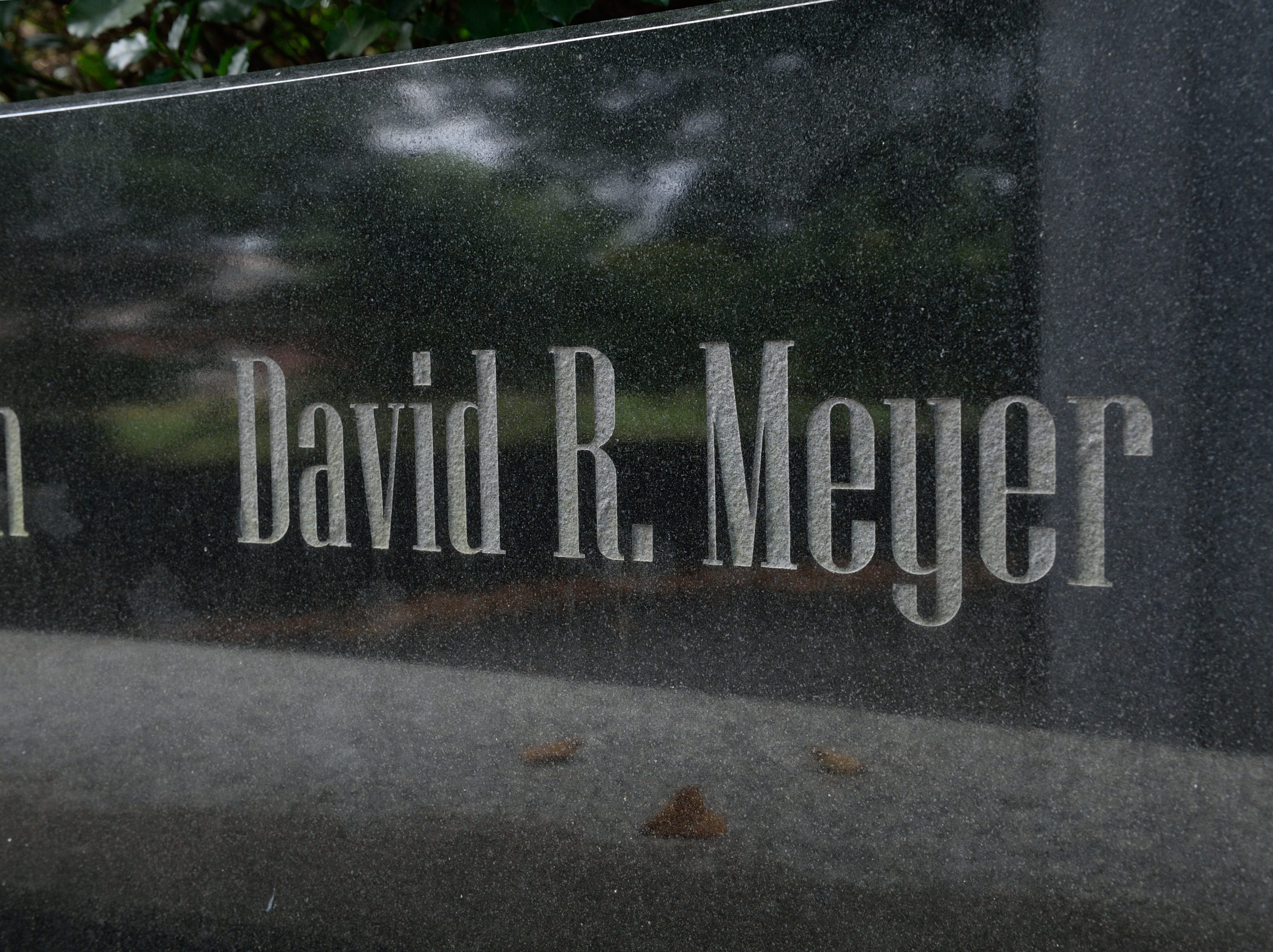 A monument at Veterans Memorial Park in Glen Rock honoring resident David R. Meyer who was lost in the attack on 9/11