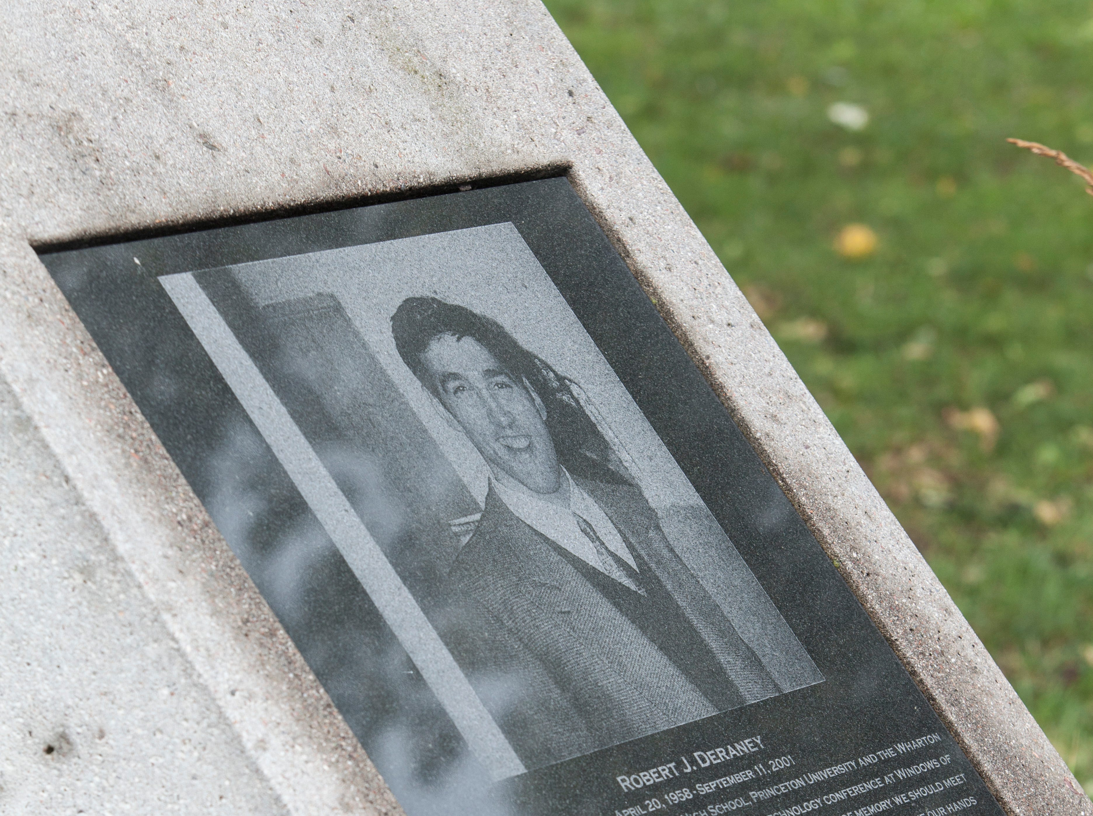 Robert J. Deraney, who is pictured here on a memorial in Wayne.