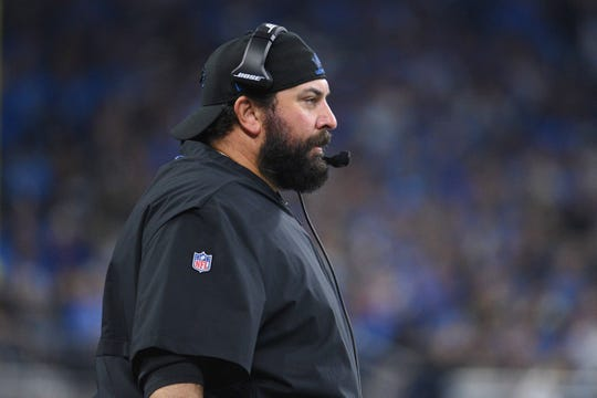 Sep 10, 2018; Detroit, MI, USA; Detroit Lions head coach Matt Patricia during the second quarter against the New York Jets at Ford Field. Mandatory Credit: Tim Fuller-USA TODAY Sports