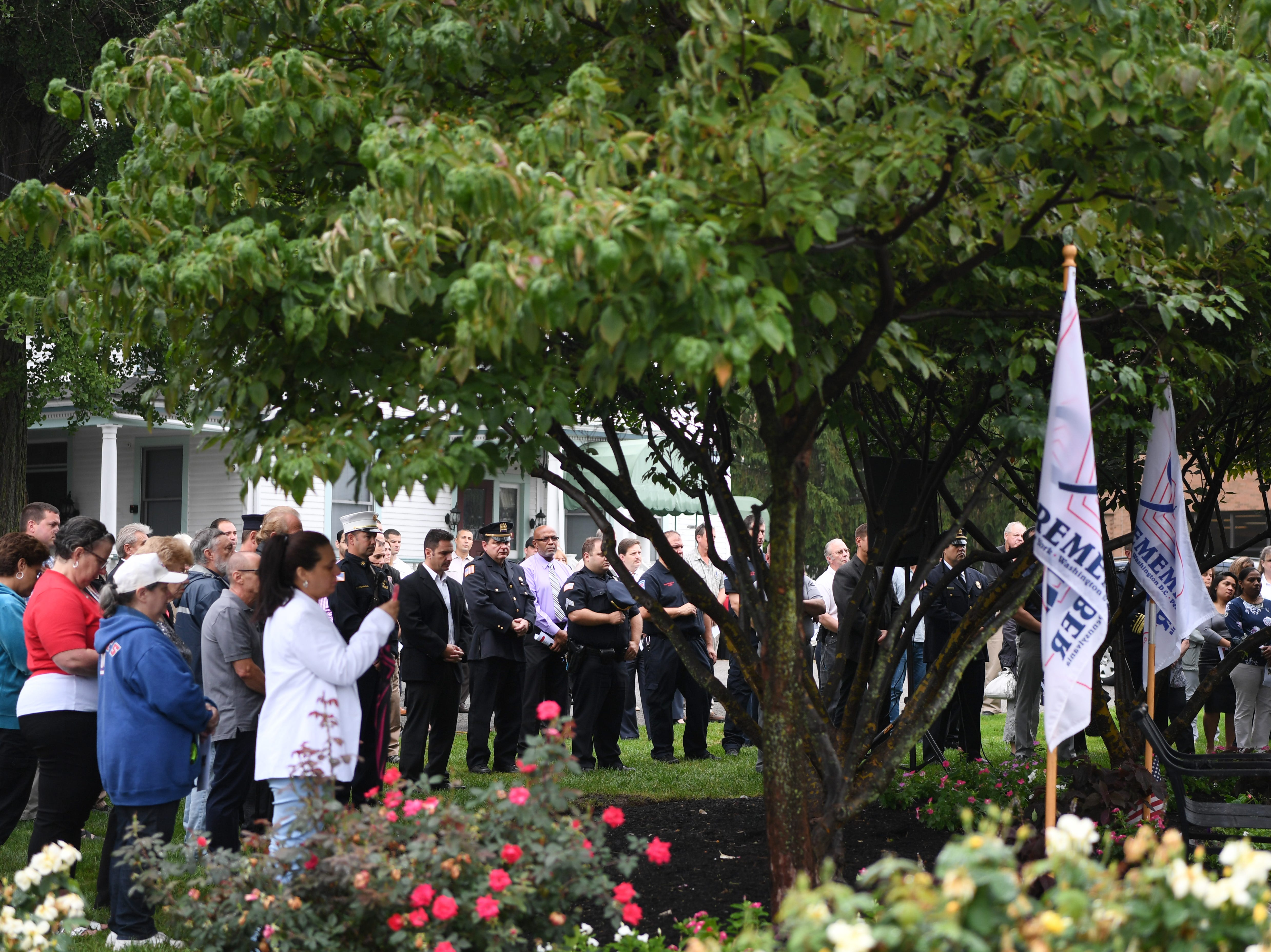 9/11 memorial service at Clifton City Hall on Tuesday, September 11, 2018.