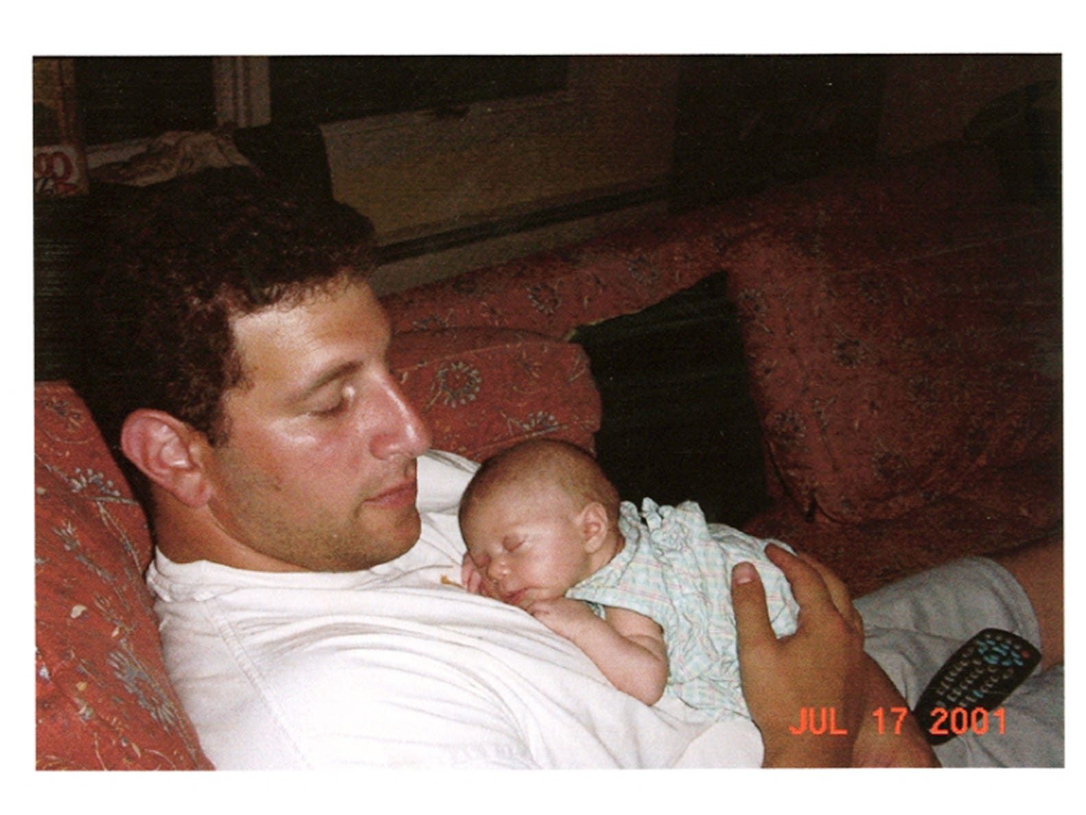 Jeremy Glick, 31, of West Milford, N.J., is shown with his daughter Emerson in this July 17, 2001, photo.