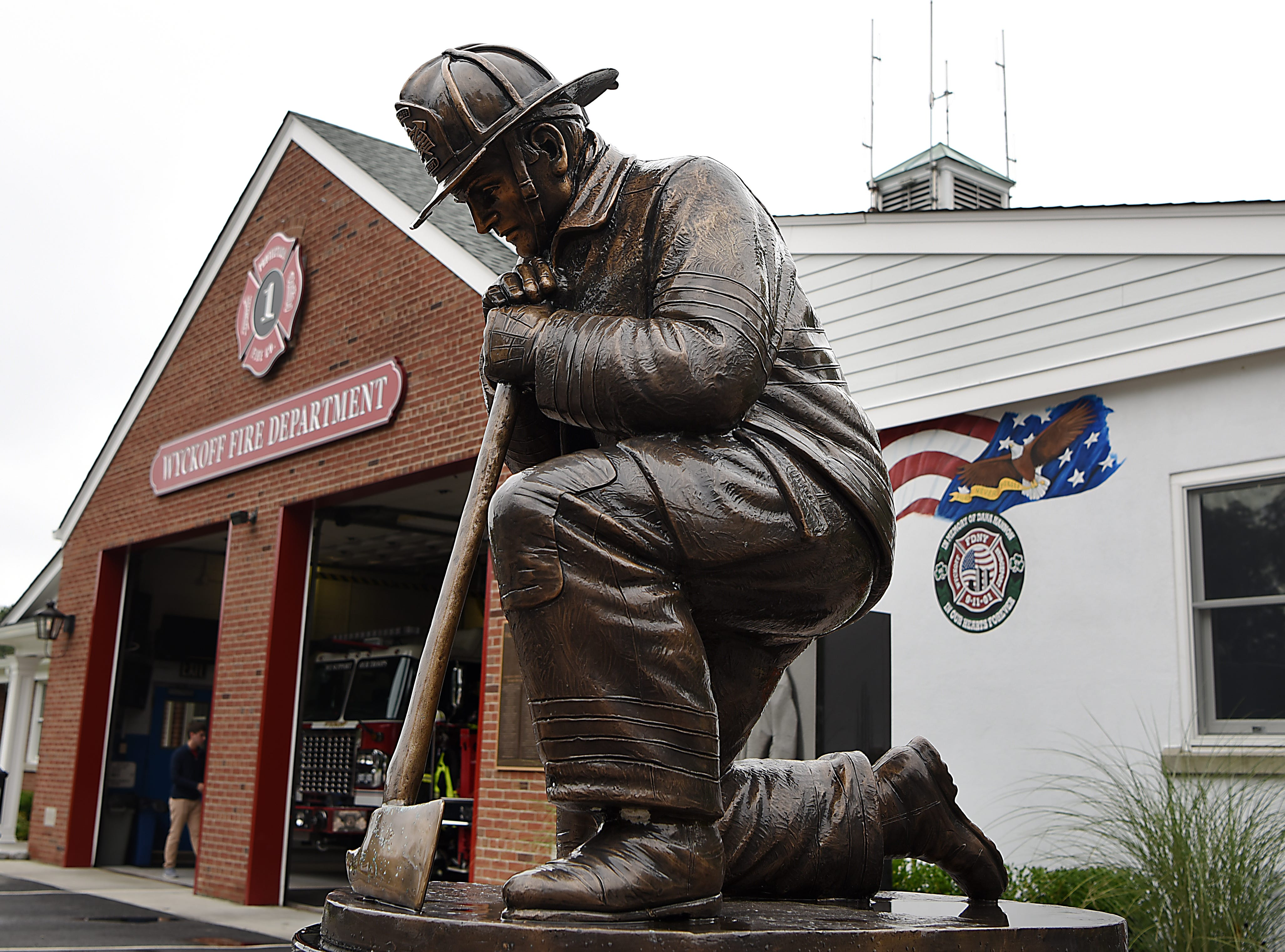 September 11th memorial at the Wyckoff Volunteer Fire Department Company No. 1 in Wyckoff on Tuesday September 11, 2018. The memorial is dedicated to firefighter Dana Rey Hannon.