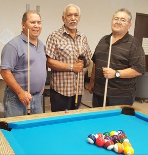 Pictured from left, JR Guevara, of Organ; Henry Telles, of Las Cruces; and John Arsola, of Las Cruces.