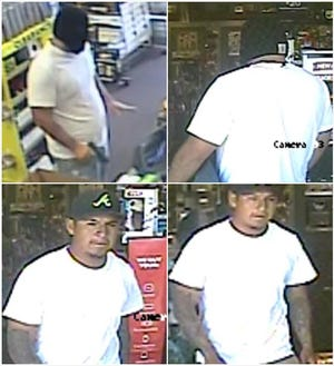 Two men are suspected of committing crimes Tuesday at a local GameStop store.