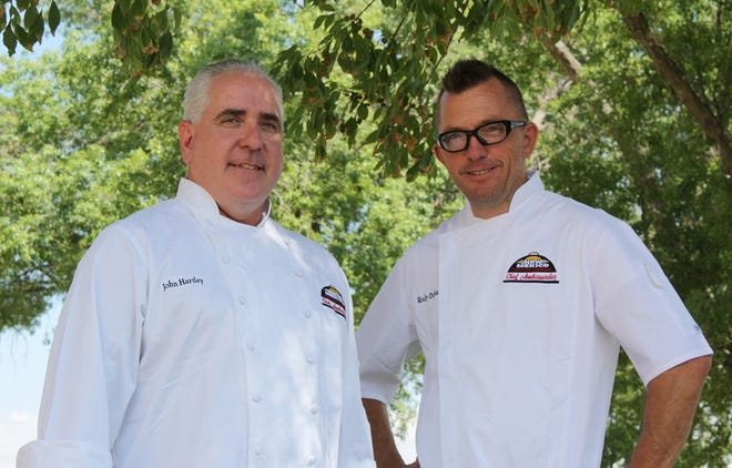 John Hartley, left, and Rocky Durham, right, have been selected as the Chef Ambassadors for the first-ever NEW MEXICO — Taste the Tradition Chef Ambassador Program. The New Mexico Department of Agriculture selected the chef ambassadors after a competitive application and interview process.