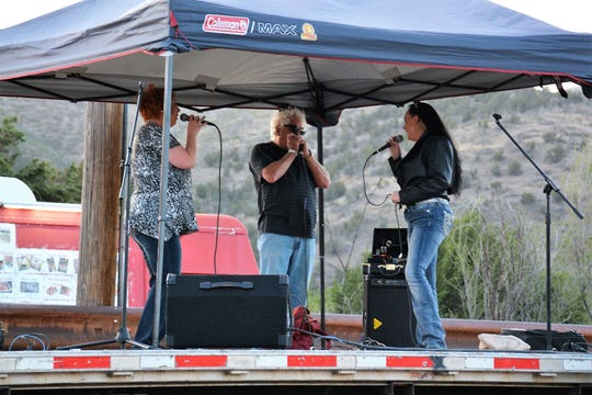 Local musicians performing during the May Rodeo On Wheels.