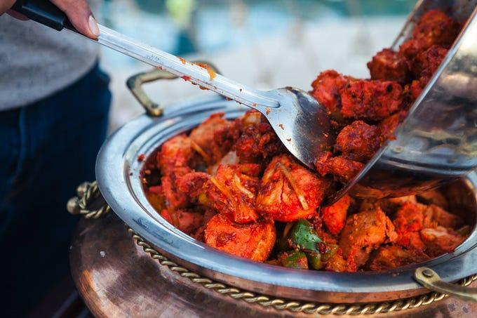 The chicken tikka at India Palace.