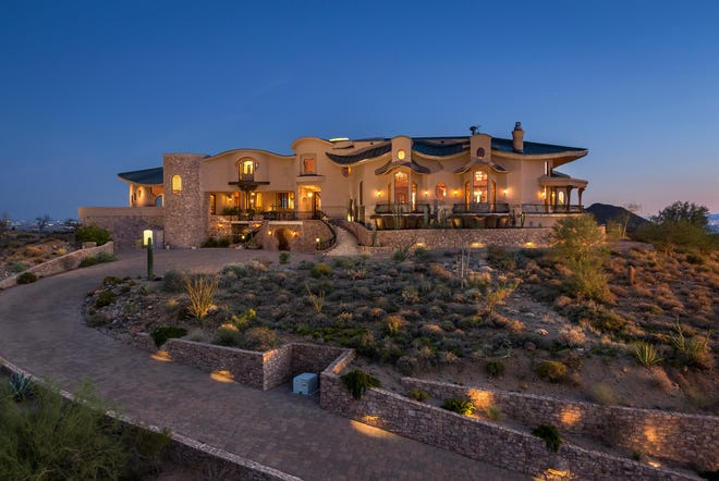 """This Fountain Hills home, nicknamed the  """"Butterfly home,"""" sold for $3.3 million."""