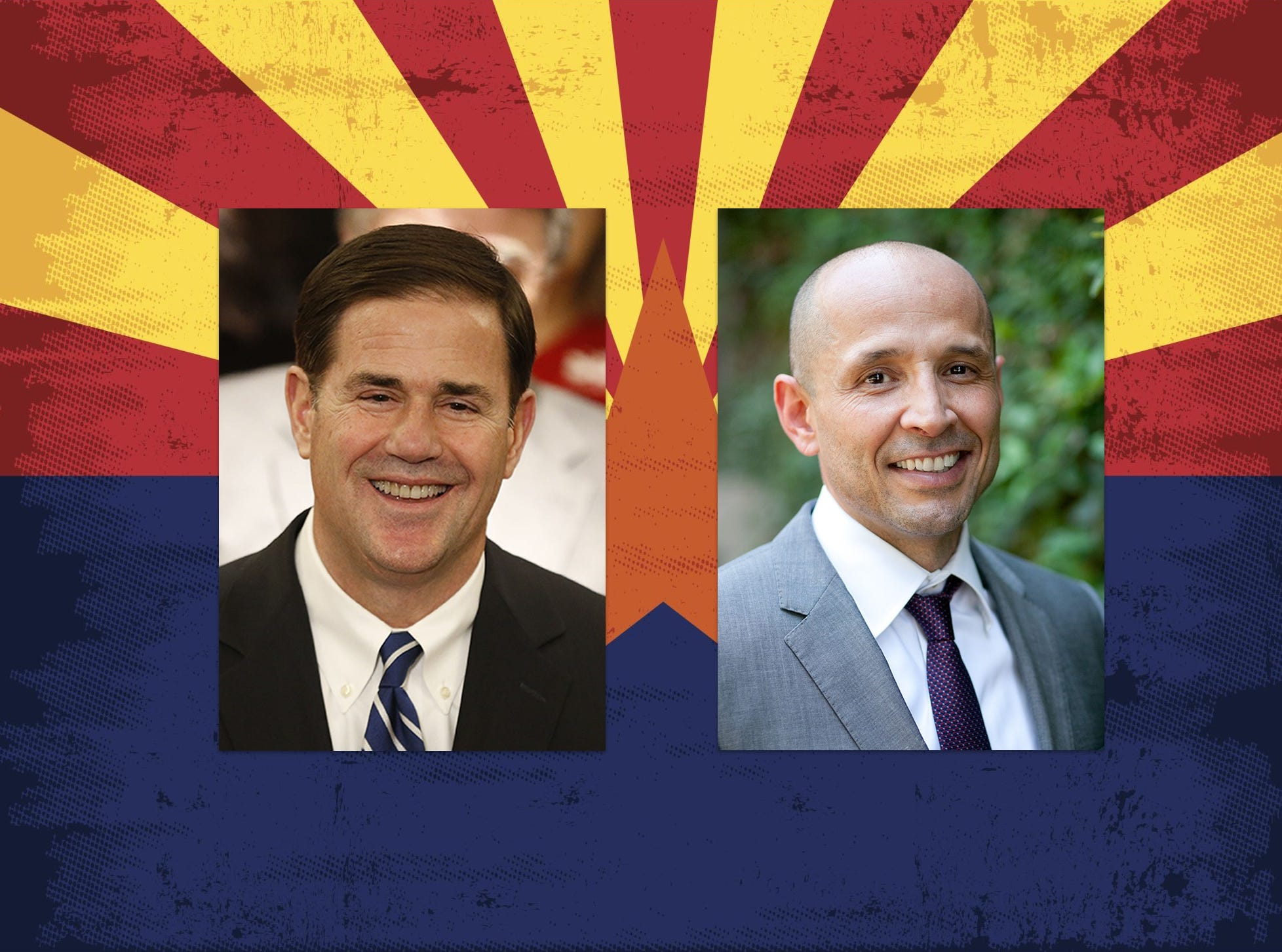 Doug Ducey Republican Gov. Doug Ducey (left) and Democrat David Garcia are both running for governor in 2018.