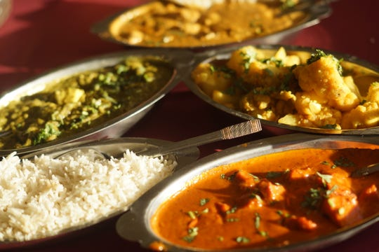 A variety of dishes at New India Gate New India Gate.