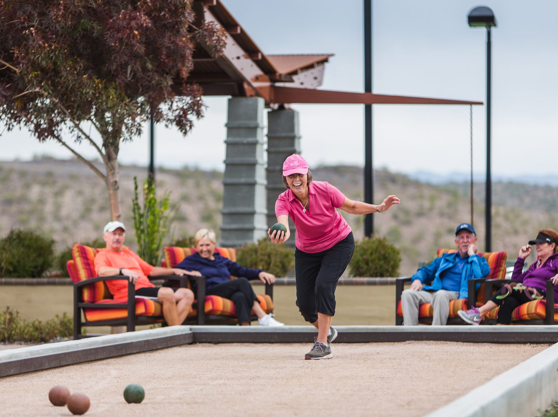 Wickenburg Ranch residents at the courts and sports complex.