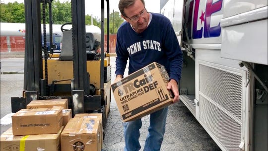 Bailey collect supplies for Florence
