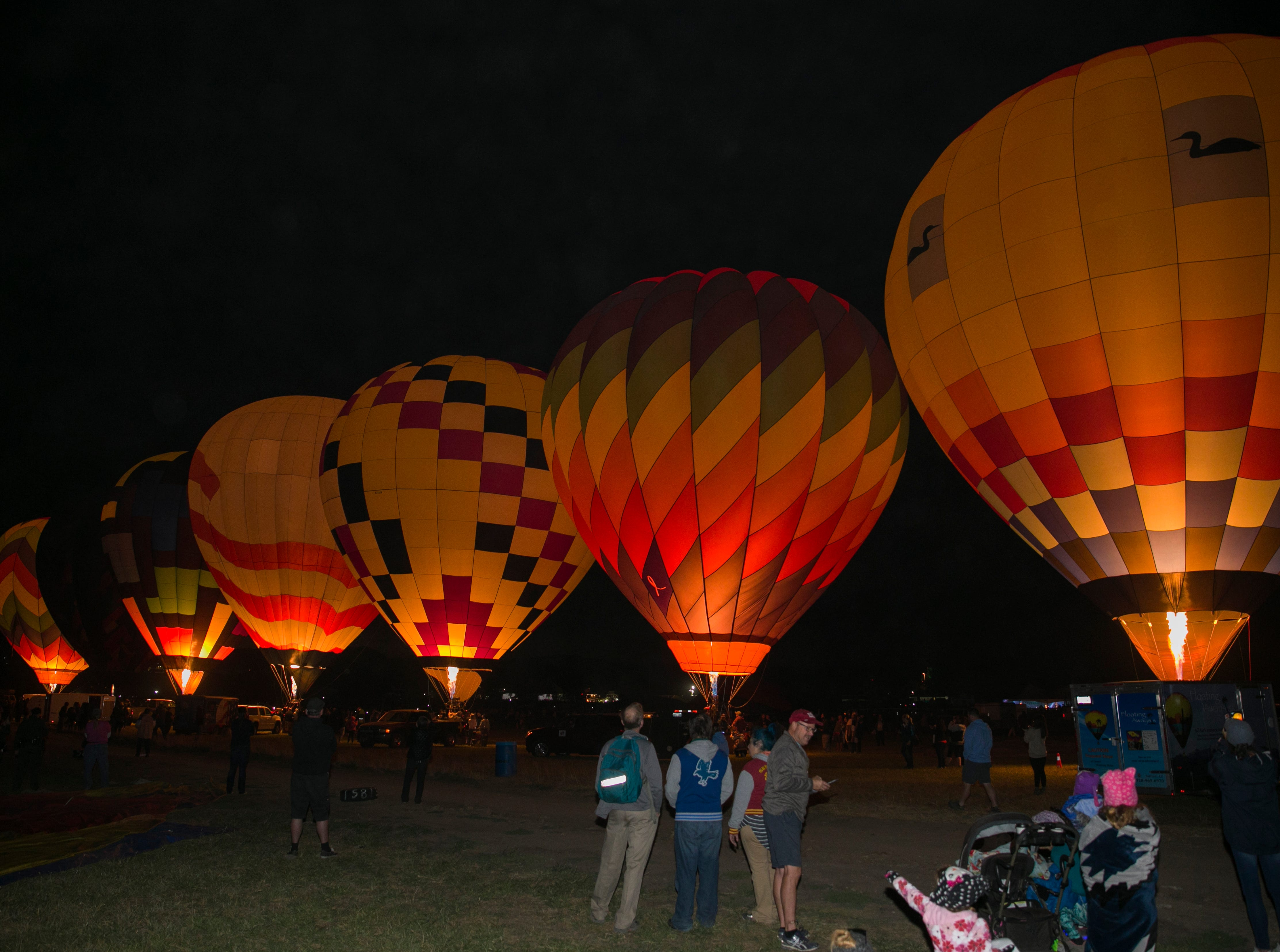 A photograph taken during the Great Reno Balloon Races held on Saturday, Sept. 8, 2018.