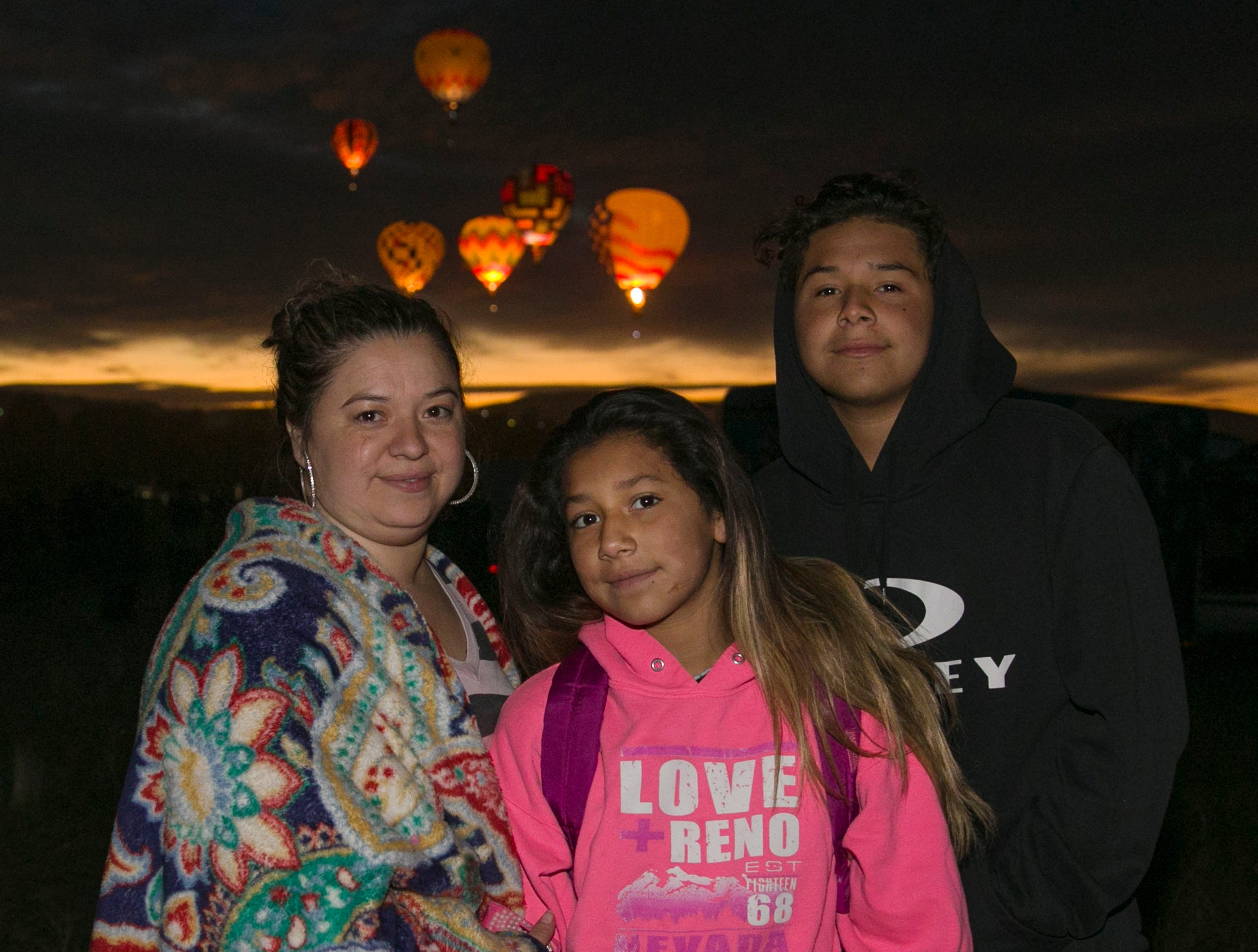 The Matuz family during dawn patrol at the Great Reno Balloon Races held on Saturday, Sept. 8, 2018.