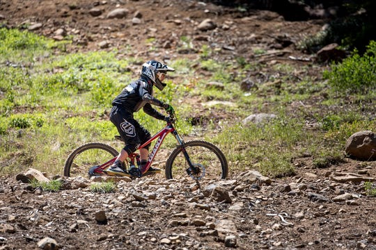 One of the trails at Northstar's bike park.