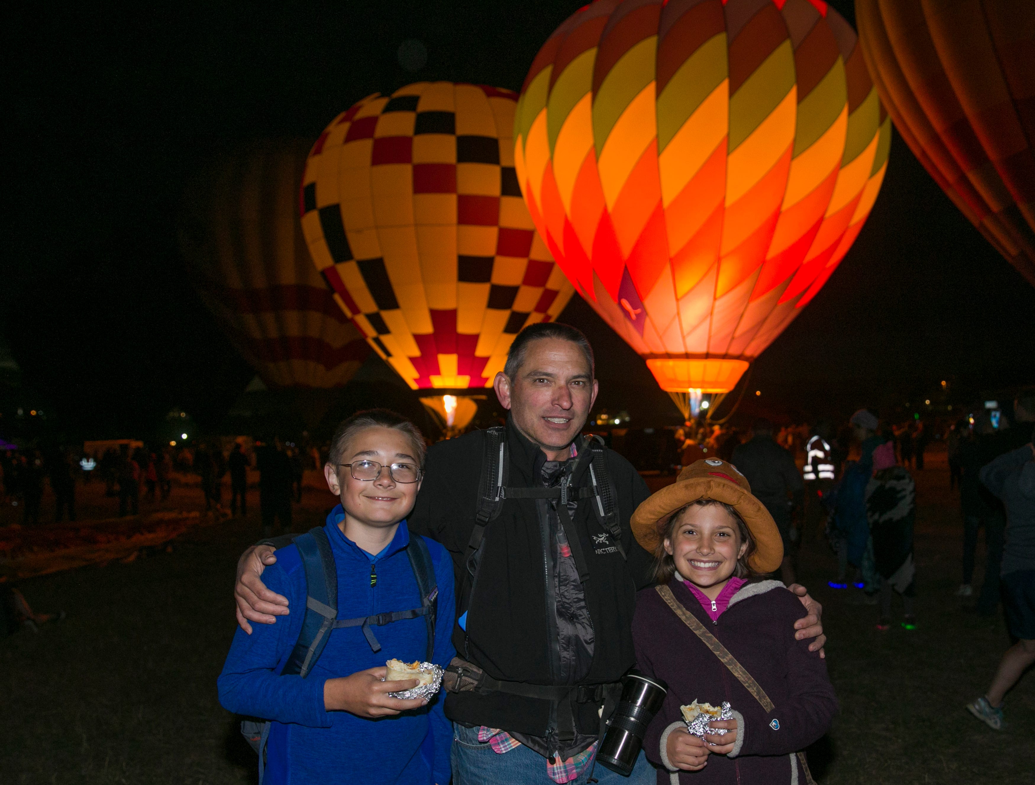 The Flanigan family during dawn patrol at the Great Reno Balloon Races held on Saturday, Sept. 8, 2018.