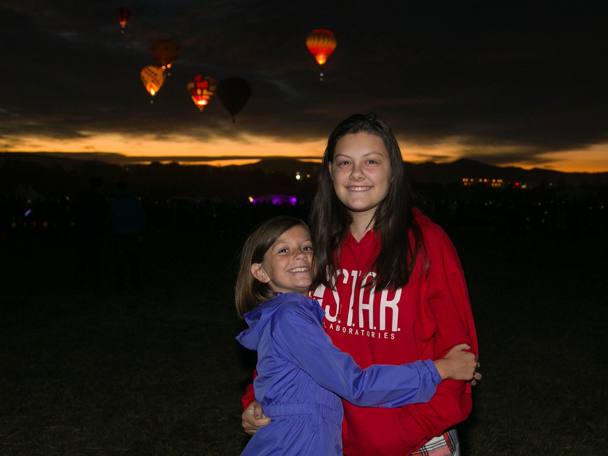 Jillian and Avie during dawn patrol at the Great Reno Balloon Races held on Saturday, Sept. 8, 2018.