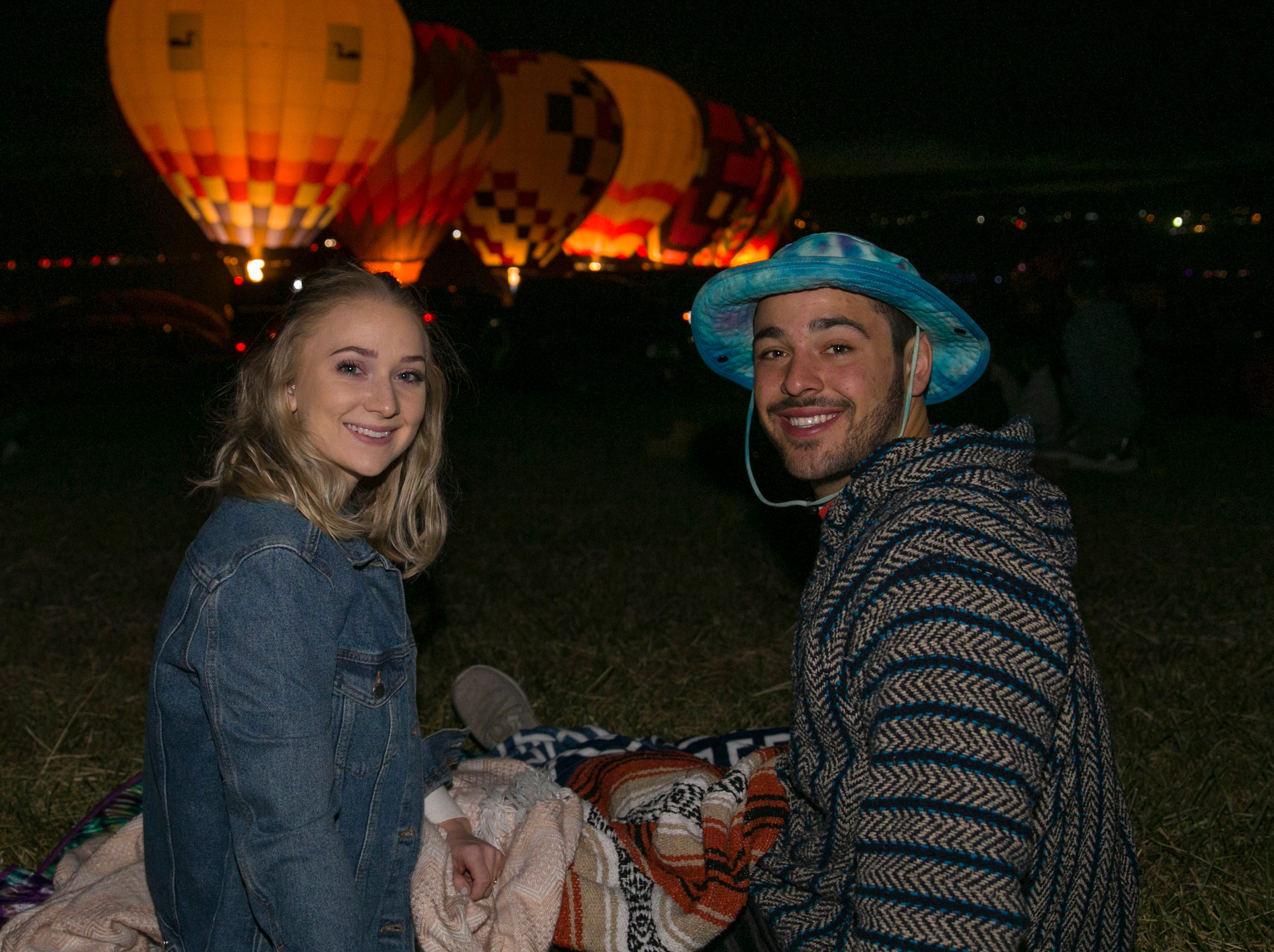 Cecily and Jacob during dawn patrol at the Great Reno Balloon Races held on Saturday, Sept. 8, 2018.