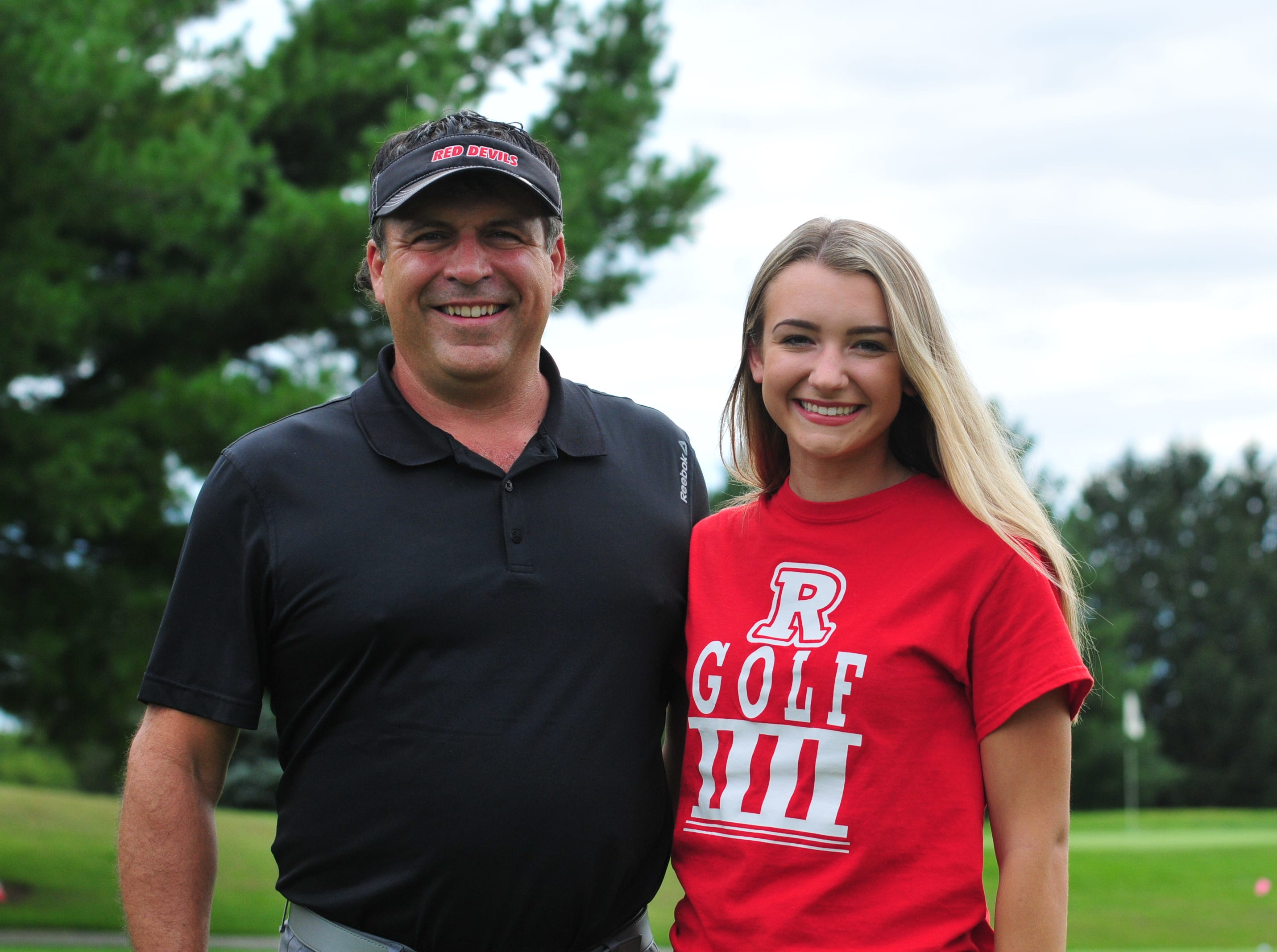 Jesse Owens, left, helped Richmond start an intermediate golf program. His daughter Karissa, right, is currently a senior and his third daughter to play for the Red Devils.