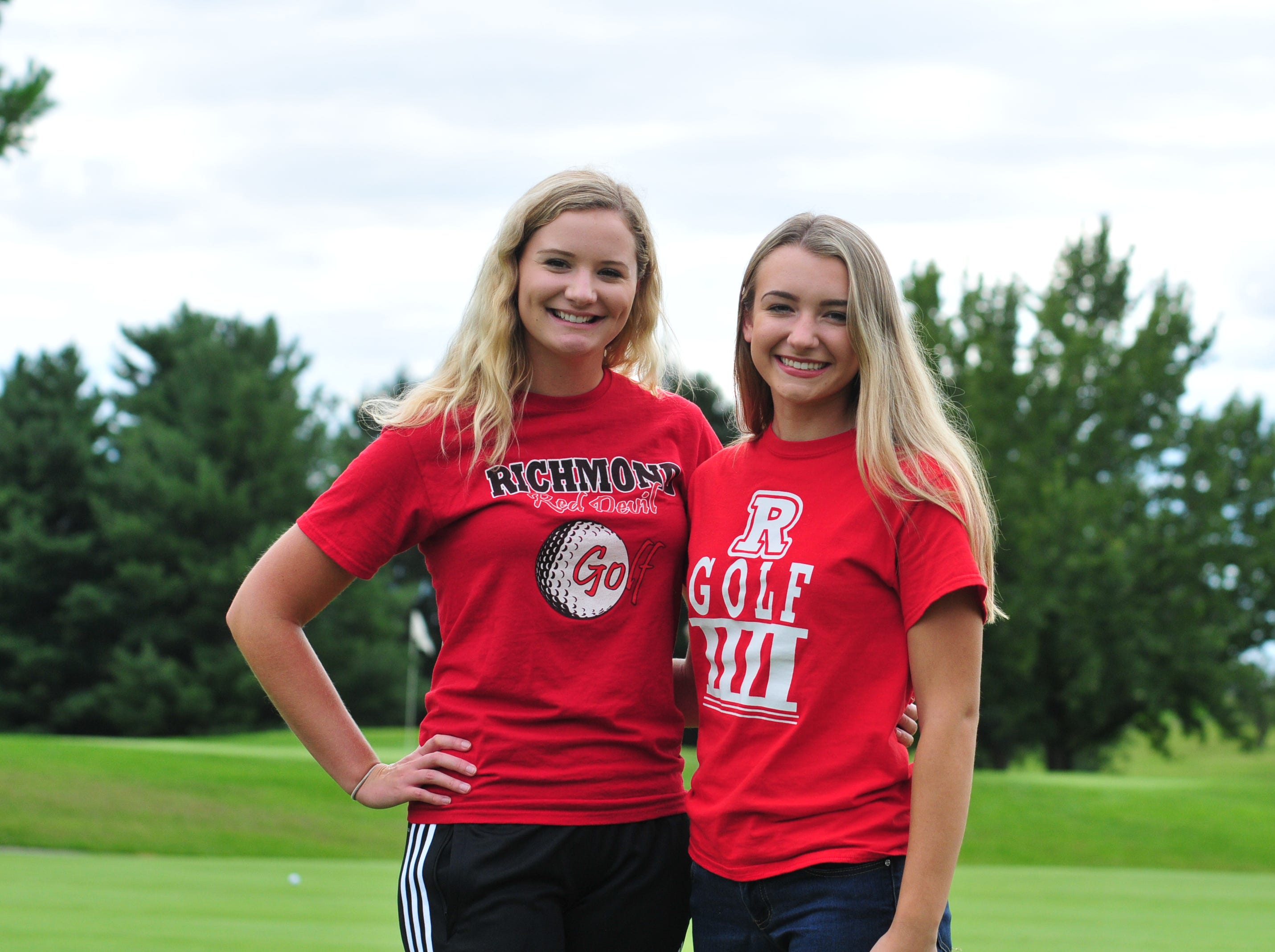 Richmond High School seniors Jacey Cornett, left, and Karissa Owens, are looking to lead the Red Devils back to the state tournament.