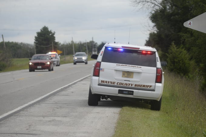 The Wayne County Sheriff's Office investigates a serious accident on U.S. 27 South near the intersection with Beelor Road on Tuesday, Sept. 11, 2018.