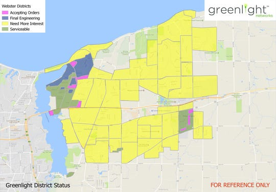 Greenlight Networks fiber optic internet service currently operates in a few Webster neighborhoods, including the Raphael Drive area and Park Lane Drive area.